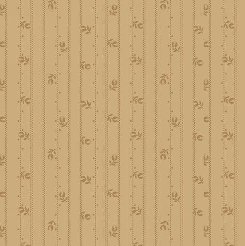 Linen Closet Floral Stripe on Toast