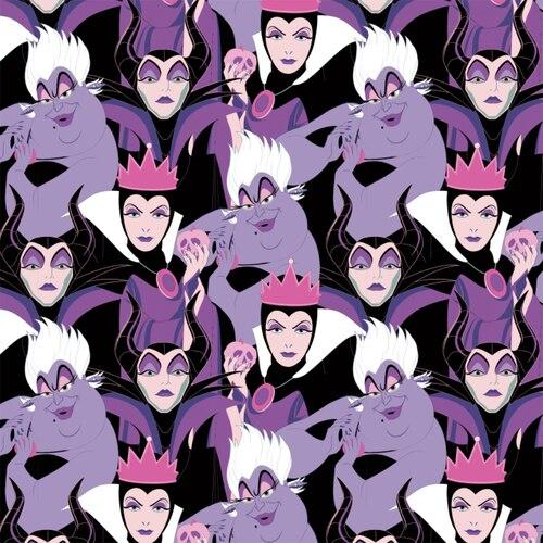 Disney Villains Diabolical Villains Purple Fabric by the Yard