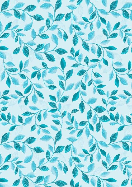 PEARL REFLECTIONS SHIMMER LEAVES LT BLUE