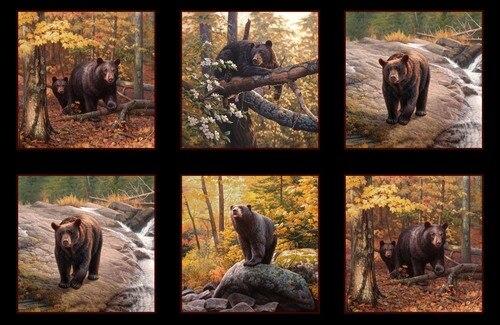 Black Bear Block Panel