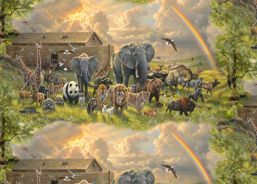 SPECIALTY FABRICS: Noah's Ark Scenic by Abraham Hunter for Elizabeth's Studio