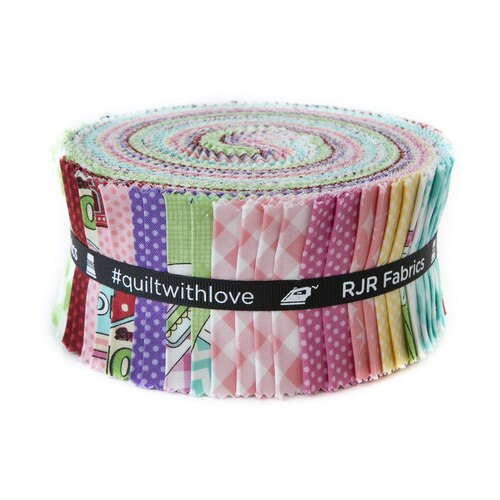 2.5 Precut Fabric Strips Retro Road Trip Pixie