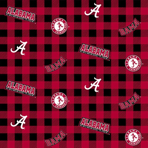 Buffalo Plaid Cotton - Alabama Crimson Tide