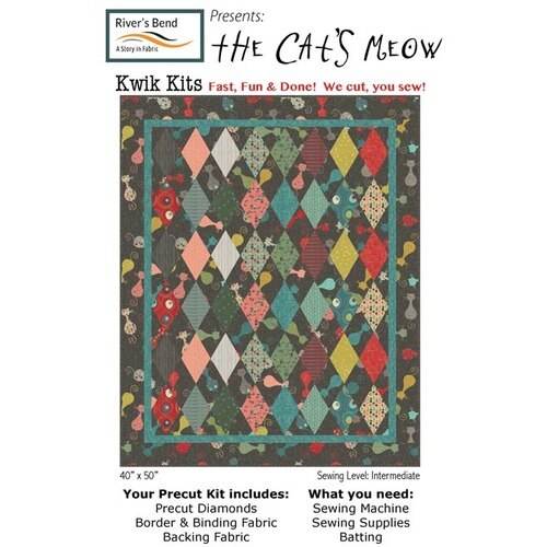 Atomic Revival Cat's Meow<br>Kwik Kit Quilt Kit - 40 x 50