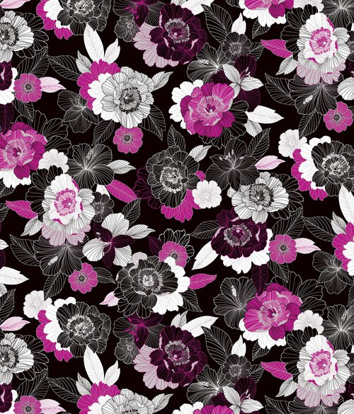 Midnight Garden Large Floral Pearl Multi