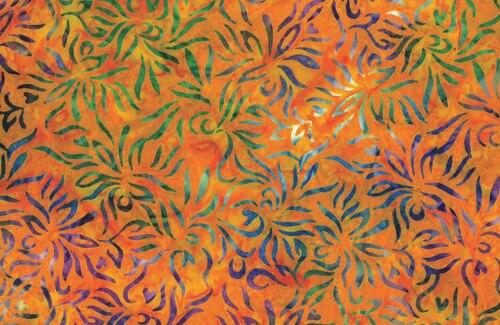 Outline Floral - Orange/Multi