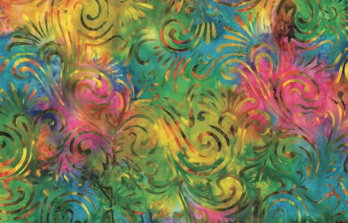Bali Tropical Escape - Wave Floral - Bright/Multi