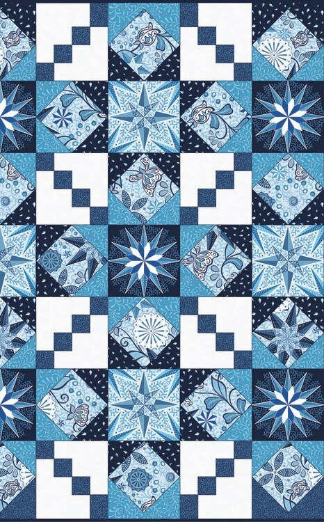 Celestial Lights - Endless Quilting Blue