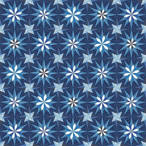 Celestial Lights Star Medallion Blue 9630P 50