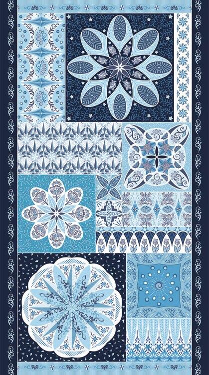 Panel Celestial Lights - Ruler  - Blue 09638 50