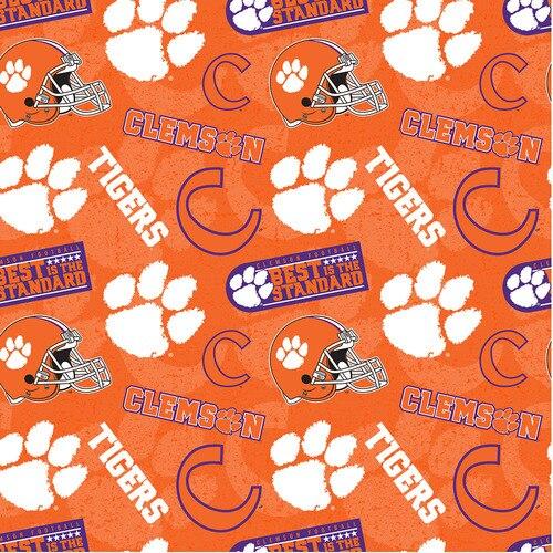 NCAA- Clemson 1178 Tone on Tone Cotton