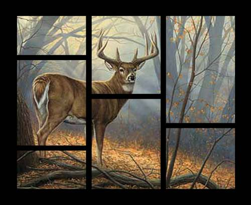 Field Day Deer Panel from Springs Creative Fabrics