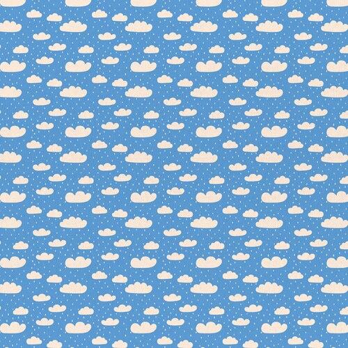Dinosaur Clouds-Blue