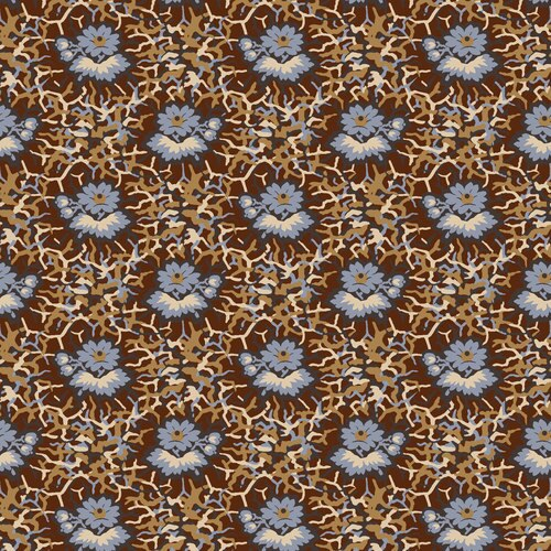 French Paisley Flower Brown 151Z