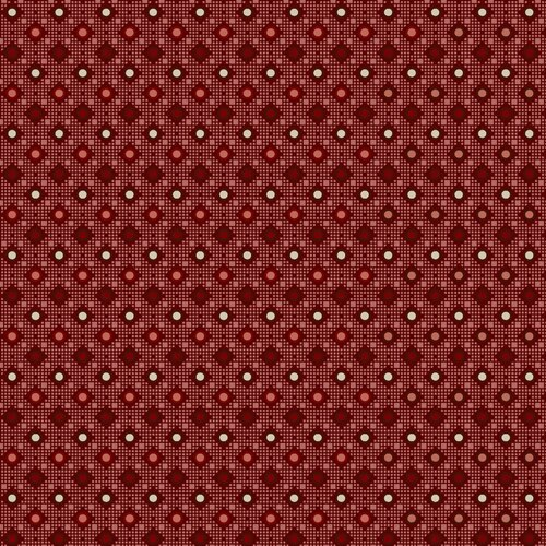 French Paisley Diamonds Red 155DR