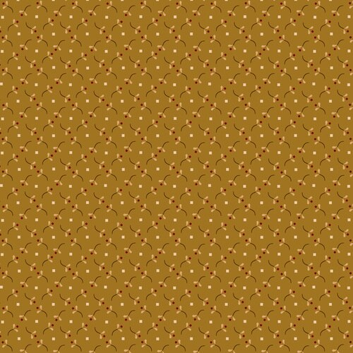 Esther's Heirloom Shirtings - Berry Sprigs<br>1598-40 - Gold