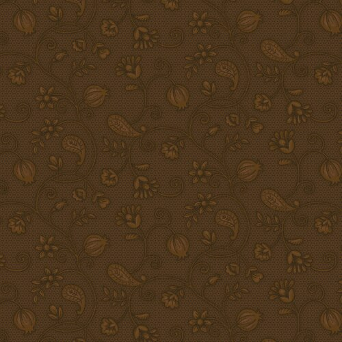 Esther's Heirloom Shirtings - Garden Bramble<br>1600-33 - Brown