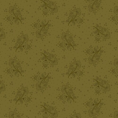 Esther's Heirloom Shirtings<br>Floral Sprays<br>1609-66 - Green