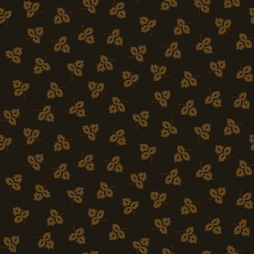 Esther's Heirloom Shirtings<br>Tossed Leaves<br>1683-99 - Black