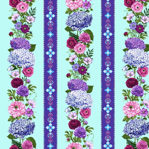 Border Stripe 24''X44'' - Sky Blue - Dragonfly Garden