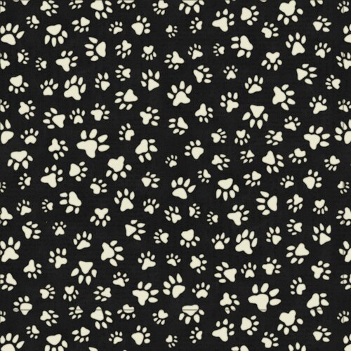 All You Need Is Love And A Dog Paw Print Allover Black