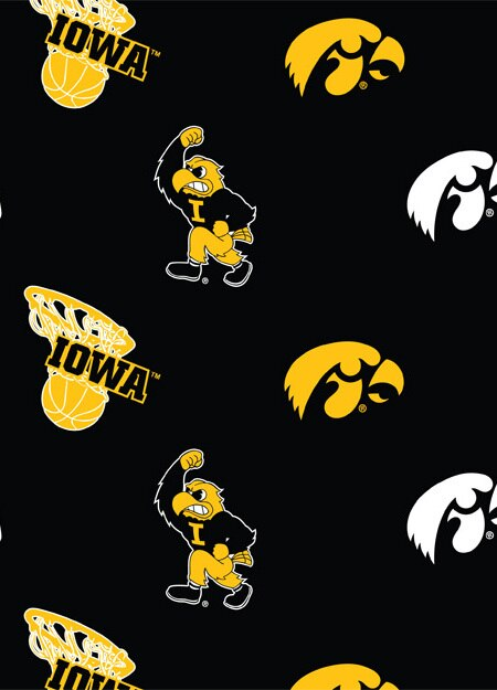 Iowa Tosssed Logos on Black 048