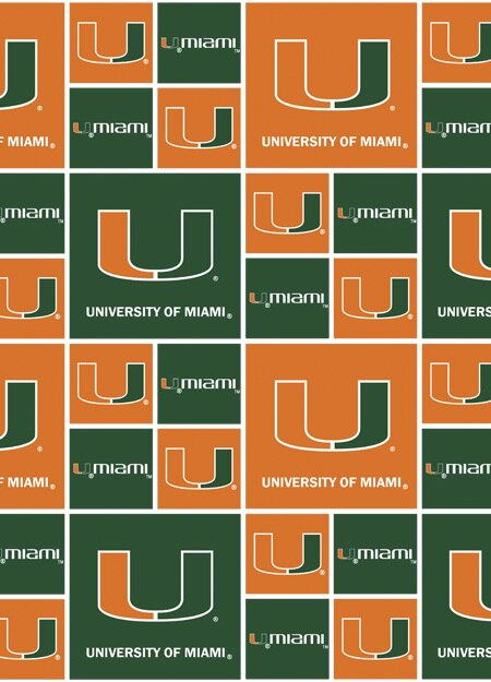 University of Miami Hurricanes Squares MIA-020