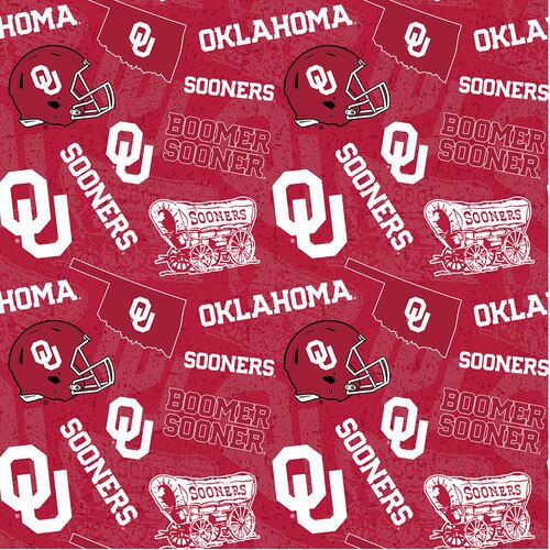 NCAA- Oklahoma 1178 Tone on Tone Cotton