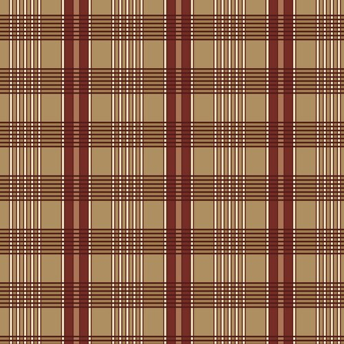 A Soldier's Quilt Plaid Red