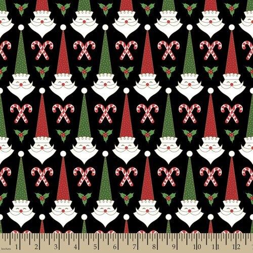 Santa's Stash Mid Mod Santa - Black