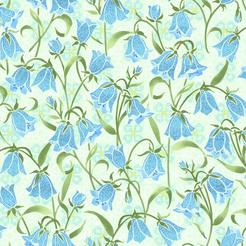 Blue Belle- Brilliant Blooms- Springtime Metallic