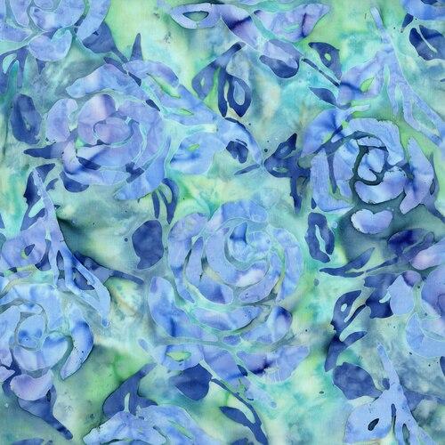 Blossom Batiks- Cascade- Floral Double- Catmint