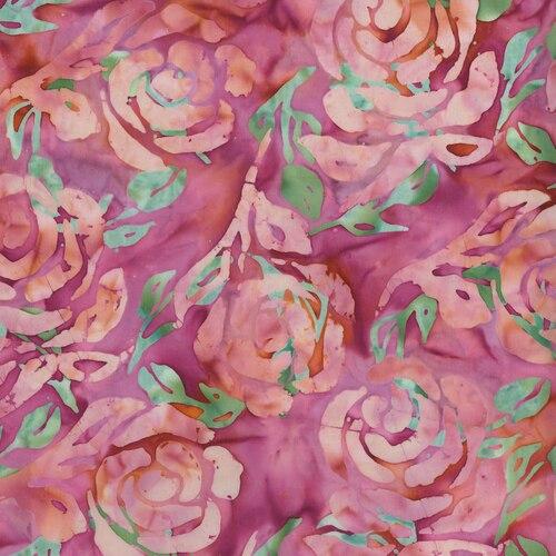 Blossom Batiks FF300-RO1 Cascade Floral Double Rose