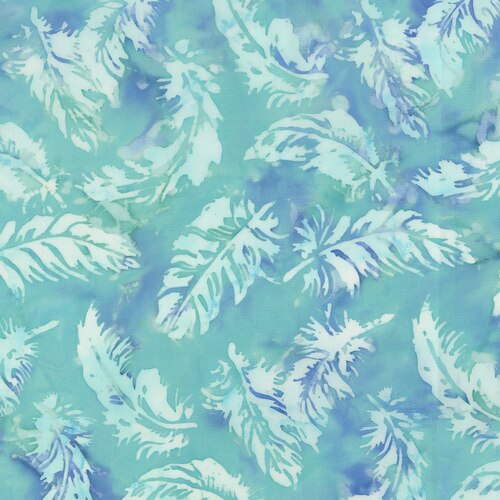 Blossom Batiks- Cascade- Feathers- Breeze