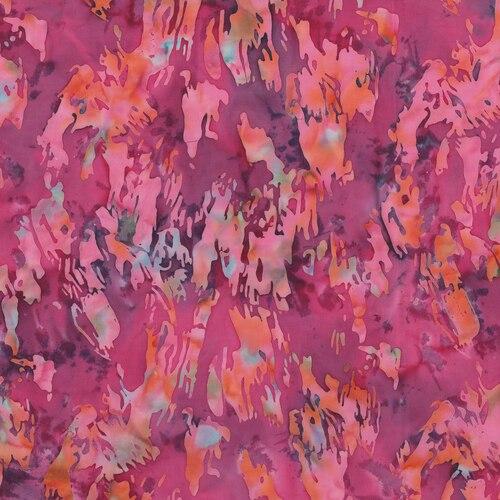 Blossom Batiks- Cascade- Paint Texture- Begonia