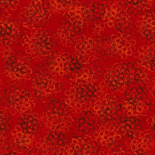 Pollinator - Pods, Cinnabar LT306-CI2 - by Leslie Tucker Jenison for RJR Fabrics