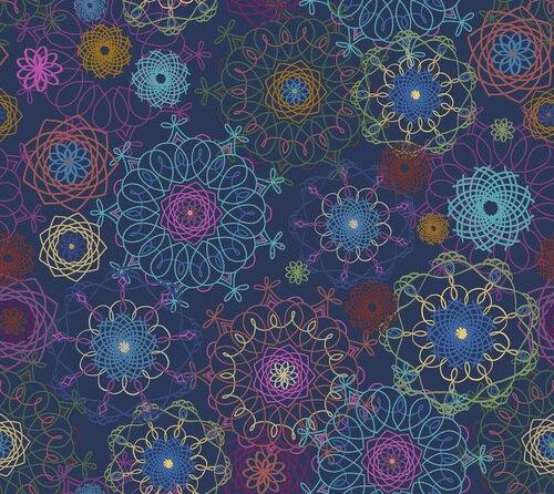 Bohemian Dreamin' - Bohemian Spirals - Navy