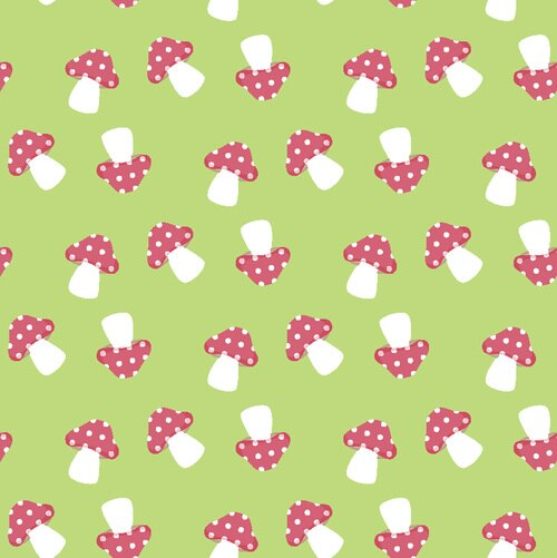 Gnome Sweet Gnome - Mushrooms - Lt Green RIV-GS-2153-23