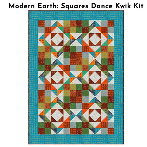 Modern Earth - Squares Dance Kwik Kit - Multi