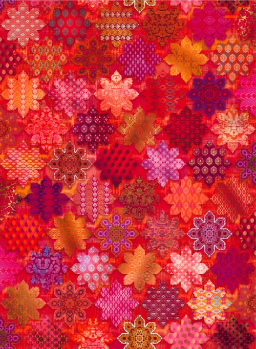 Flourish - Tiles - Ruby