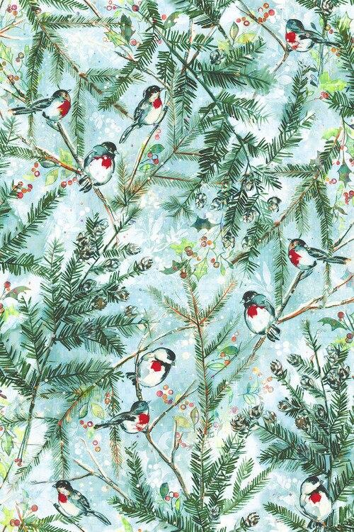 Pineview Chickadee Cheer Frost Digital Print