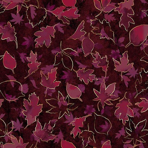 Shades Of Autumn Turning Over a New Leaf Mulberry Metallic