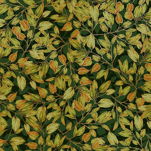 Shades Of Autumn Dancing Leaves Forest Metallic