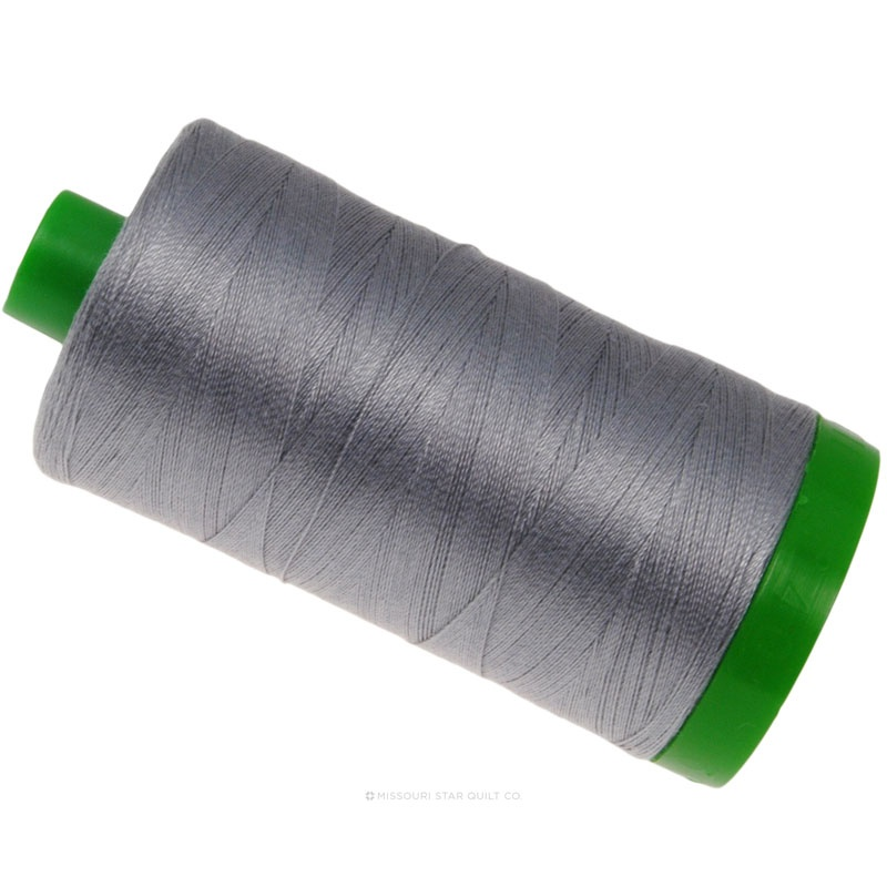 Aurifil 40 WT 100% Cotton Mako Large Spool Thread - Grey