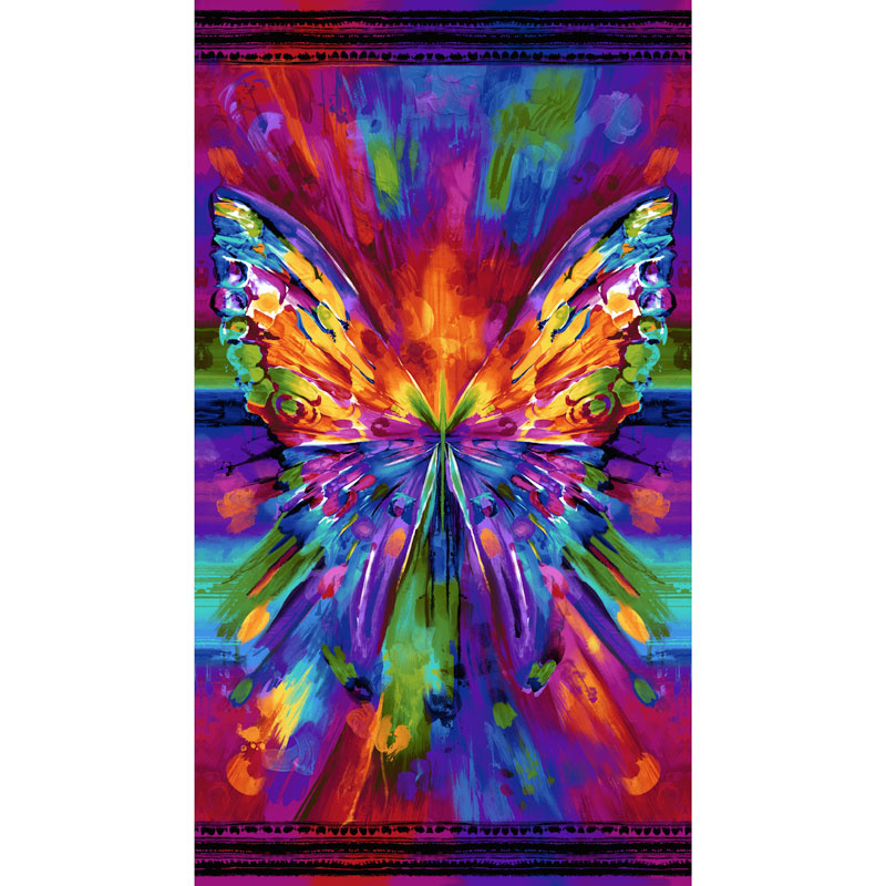 Awaken - Abstract Butterfly Bright Digitally Printed Panel
