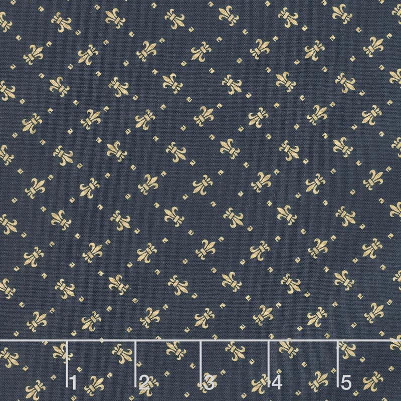 Paula's Companions - Fleur De Lis Navy Yardage 8504 0110