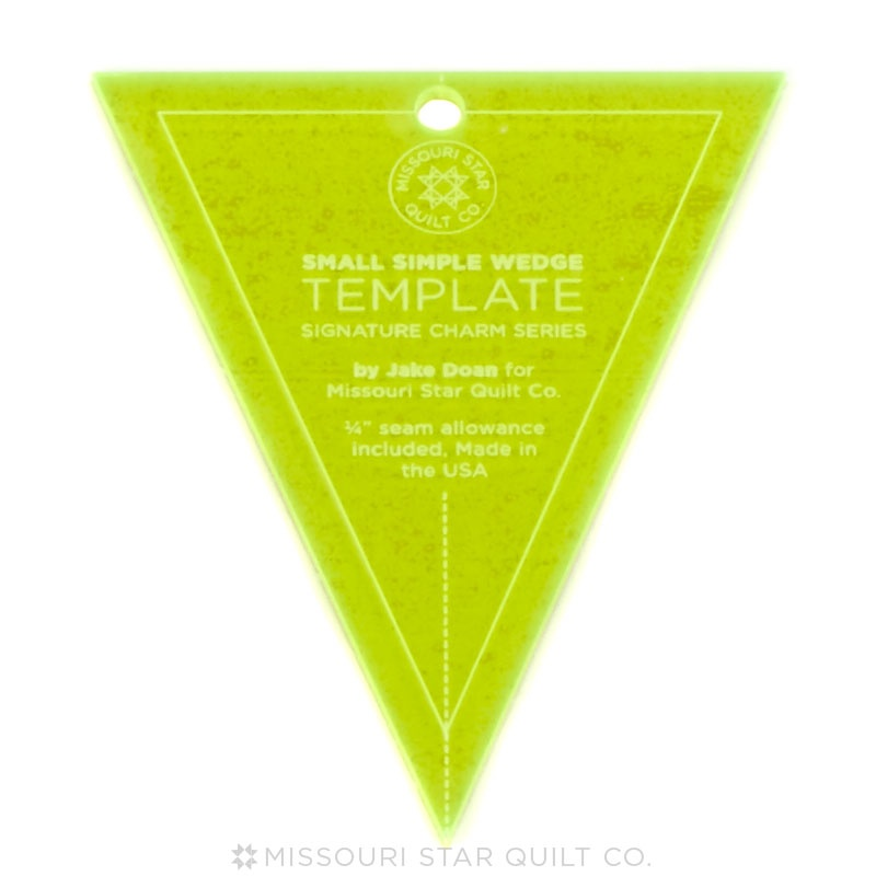 Missouri Star Small Simple Wedge Template for 5 Inch Charm Packs