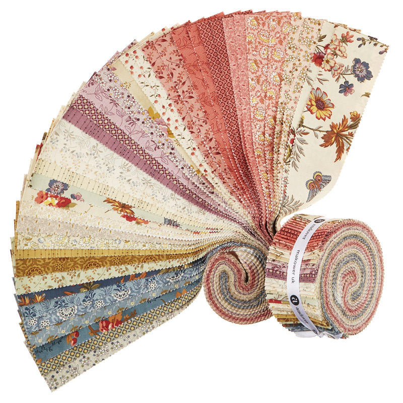Bed of Roses Double Scoops/Jelly Roll - Laundry Basket Quilts - Andover