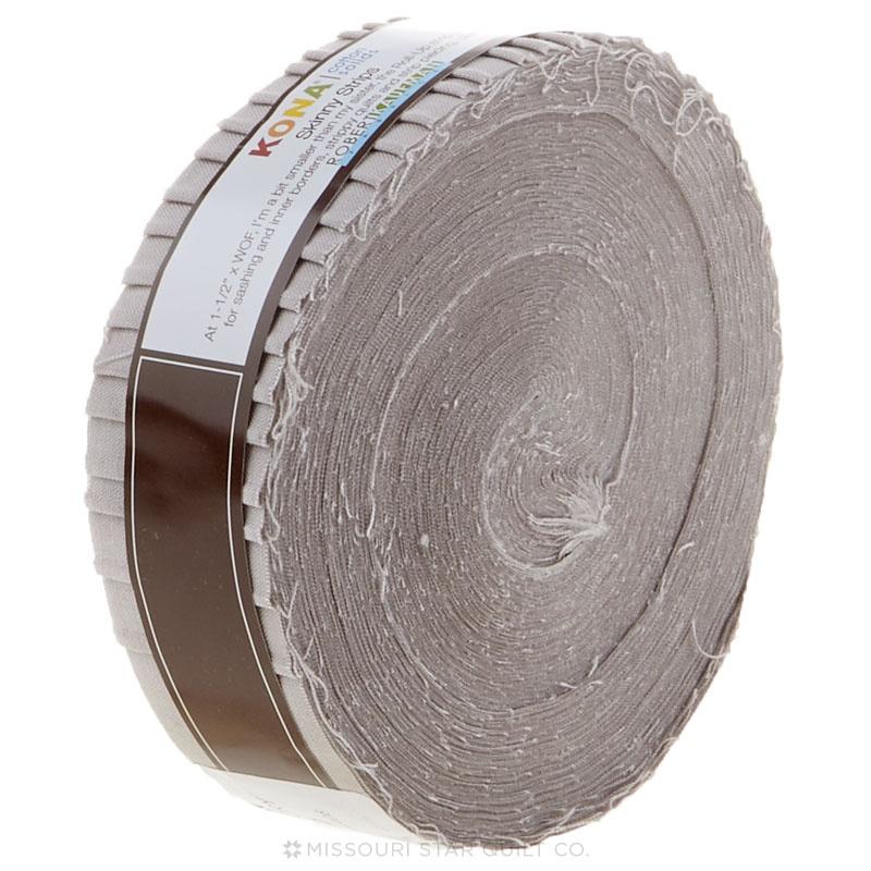 Kona Cotton - Ash Skinny Strips 1 1/2 40 ct