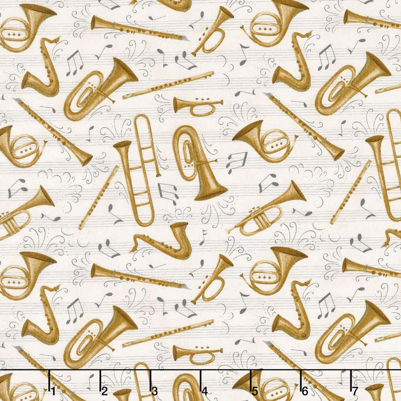 Classically Trained - Brass Instrument Toss, Grey Background